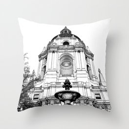 Close Up - City Hall Pasadena. Throw Pillow