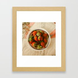 I Love You (Strawberries-Bold) Framed Art Print