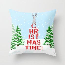 CHRISTMAS TIME WEIMARANER Throw Pillow