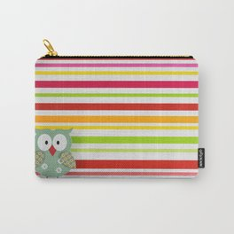Colorful owl Carry-All Pouch