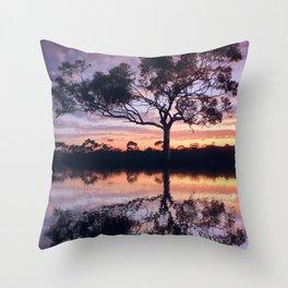 Sunset reflection - Kambalda, Western Australia Throw Pillow