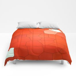 Red Abstract Animal. Comforters