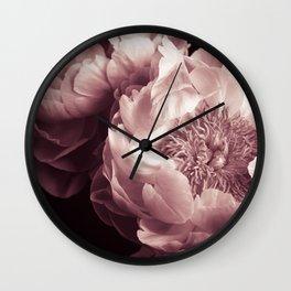 peony blossom Wall Clock