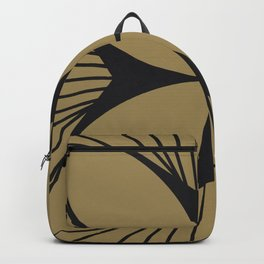 Diamond Series Floral Cross Charcoal on Gold Backpack