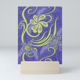 Polynesian Kiwi Lime Tropcal Floral Mini Art Print
