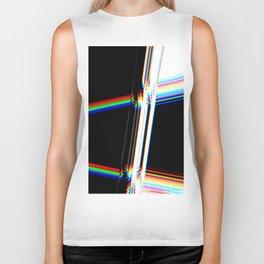 rainbow crack Biker Tank