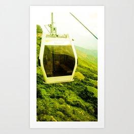Cableway santandereano in green. Art Print