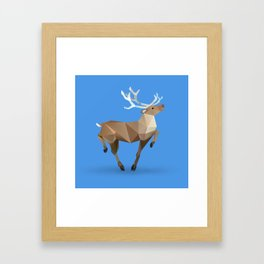 Reindeer. (Prancer) Framed Art Print