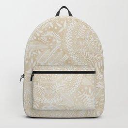 Medallion Pattern in Pale Tan Backpack