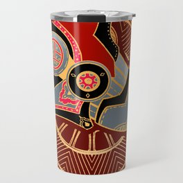 Red Lion Batik Travel Mug