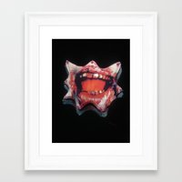 dentist Framed Art Prints featuring Dentist Accident by Dangerous Dame