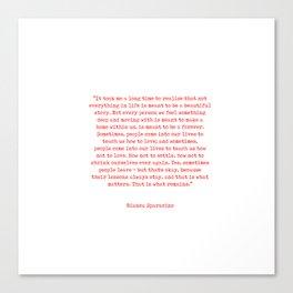 Typewriter Style Quote ((Bianca Sparacino)) Canvas Print