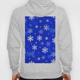 Light Blue Snowflakes Hoody