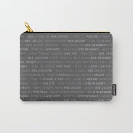 Grey Web Design Keywords Carry-All Pouch