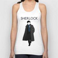 johnlock Tank Tops featuring Sherlock Holmes by Amélie Store