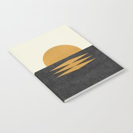 Sunset Geometric Midcentury style Notebook