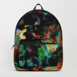 Colorful Landscape Abstract Painting Backpack