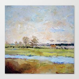 Morning mist in Suffolk , England  Canvas Print