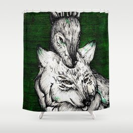 The wolf and the halla Shower Curtain