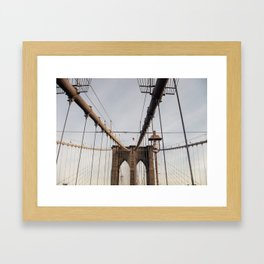 Bridge over water . Framed Art Print