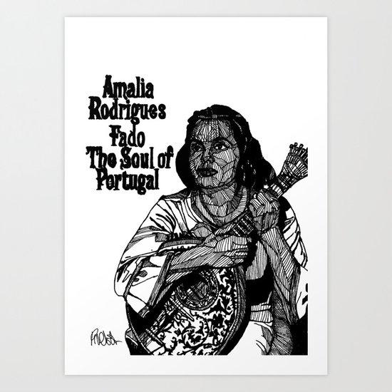 Fado Amália  Art Print
