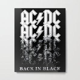 AC/DC - Back in Black Metal Print