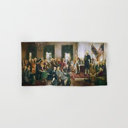 Signing of the United States Constitution 1787 Hand & Bath Towel