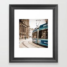 Munich city traffic Framed Art Print