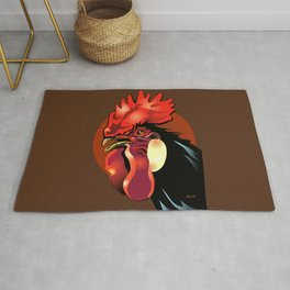 Andalusian Rooster 1 Rug