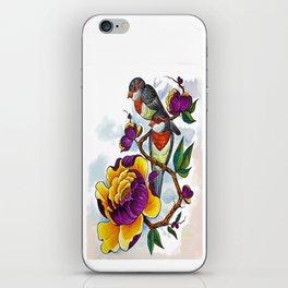 Peony Birds iPhone Skin