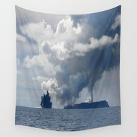 duvet cover Wall Tapestries featuring AMAZING CLOUD DUVET COVER by aztosaha