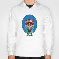 frida Hoodies featuring Frida by Juliana Motzko