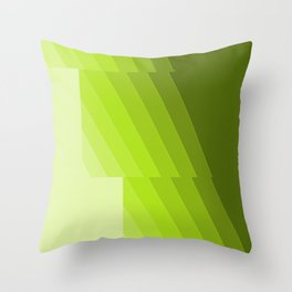 Gradient Green repetition Throw Pillow