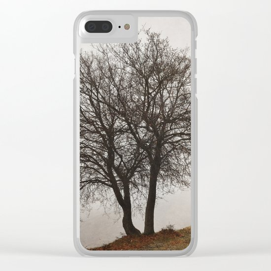 """Mountain path"". Retro Clear iPhone Case"