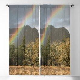 Beacon Rock Rainbow Nature Photography Blackout Curtain