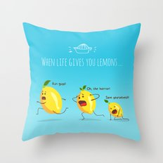 LemonAID Throw Pillow