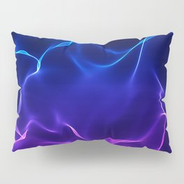 Elegant Abstract Waves -blue and purple- Pillow Sham