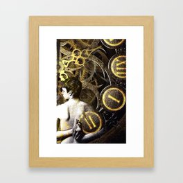 Theory of Time: revêtement Framed Art Print
