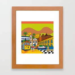 Rio de Janeiro in the past Framed Art Print