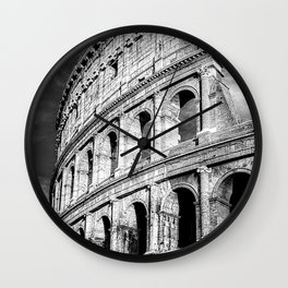Rome, Italy, Colosseum, Black and White  Wall Clock