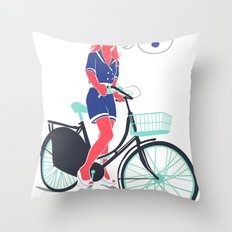LE COOL GAL Throw Pillow