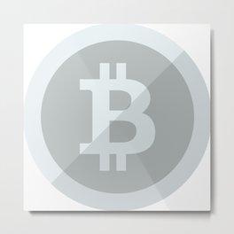 Bitcoin Silver Coin Metal Print