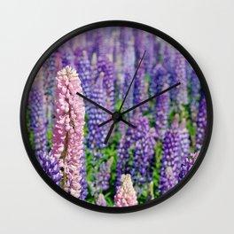 Lupins, Lake Tekapo Wall Clock