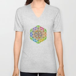 Hidden Jewel - The Rainbow Tribe Collection Unisex V-Neck