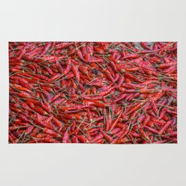 Dried red chillis Rug