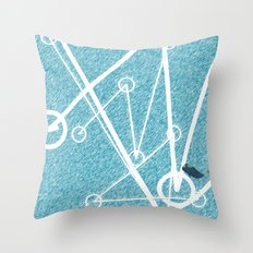Undulate - whale edition Throw Pillow