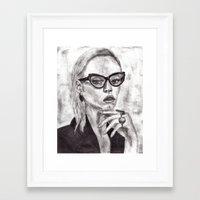 daria Framed Art Prints featuring Daria by Yuval Ozery
