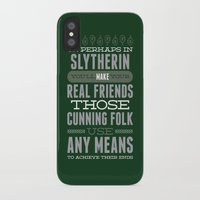 slytherin iPhone & iPod Cases featuring Slytherin by Dorothy Leigh