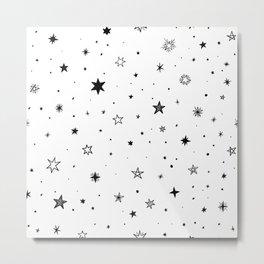 Doodle Stars Metal Print