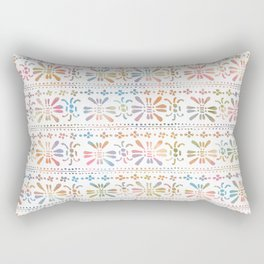 Rainbow Butterfly Insects Rectangular Pillow